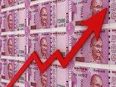 istock Indian rupee money growth chart market 1174655569