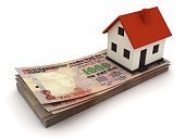istock Indian rupee money house real estate price 965470832