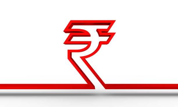 symbole de la roupie indienne - icône de ligne photos et images de collection