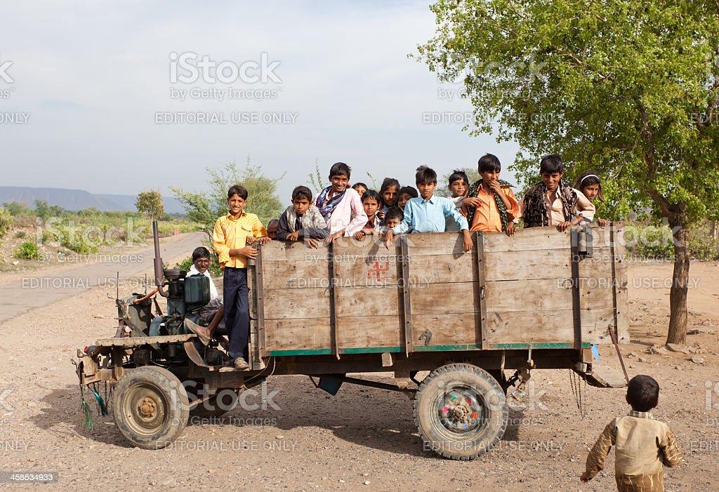 Indian Rural Children stock photo