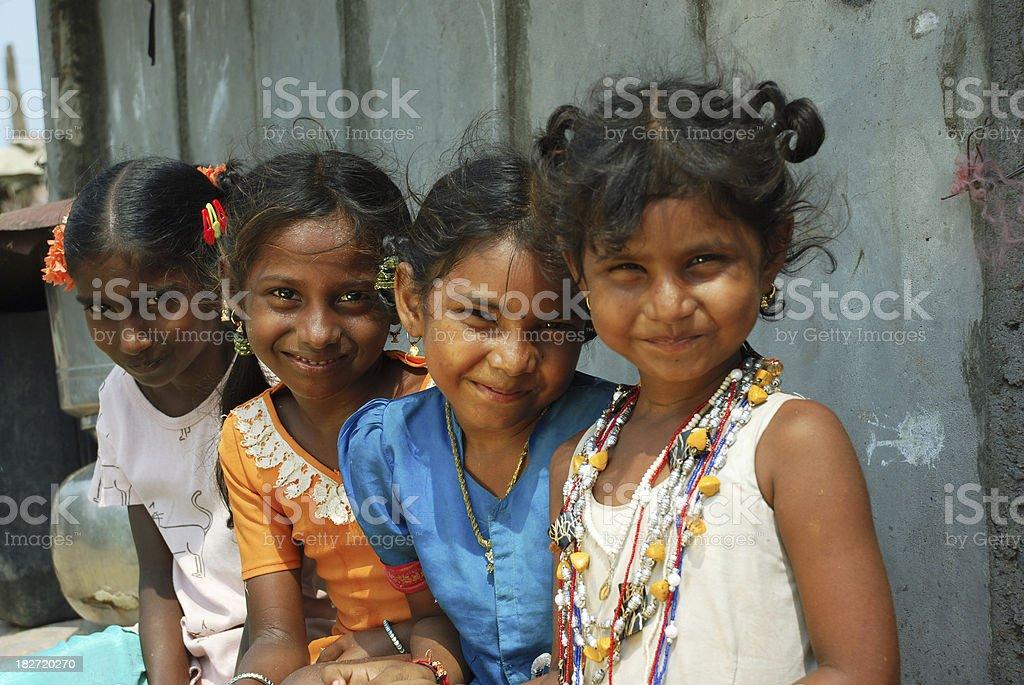 Indian Rural girls royalty-free stock photo