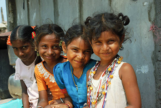 Indian Rural girls stock photo