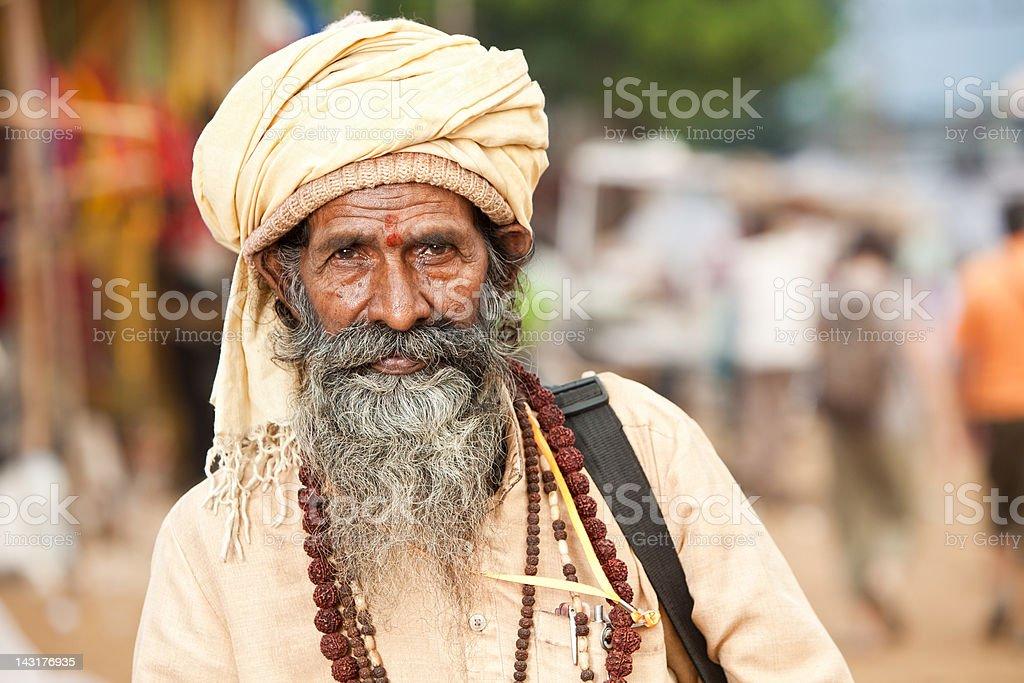 Indian Sadhu or Holy Man stock photo