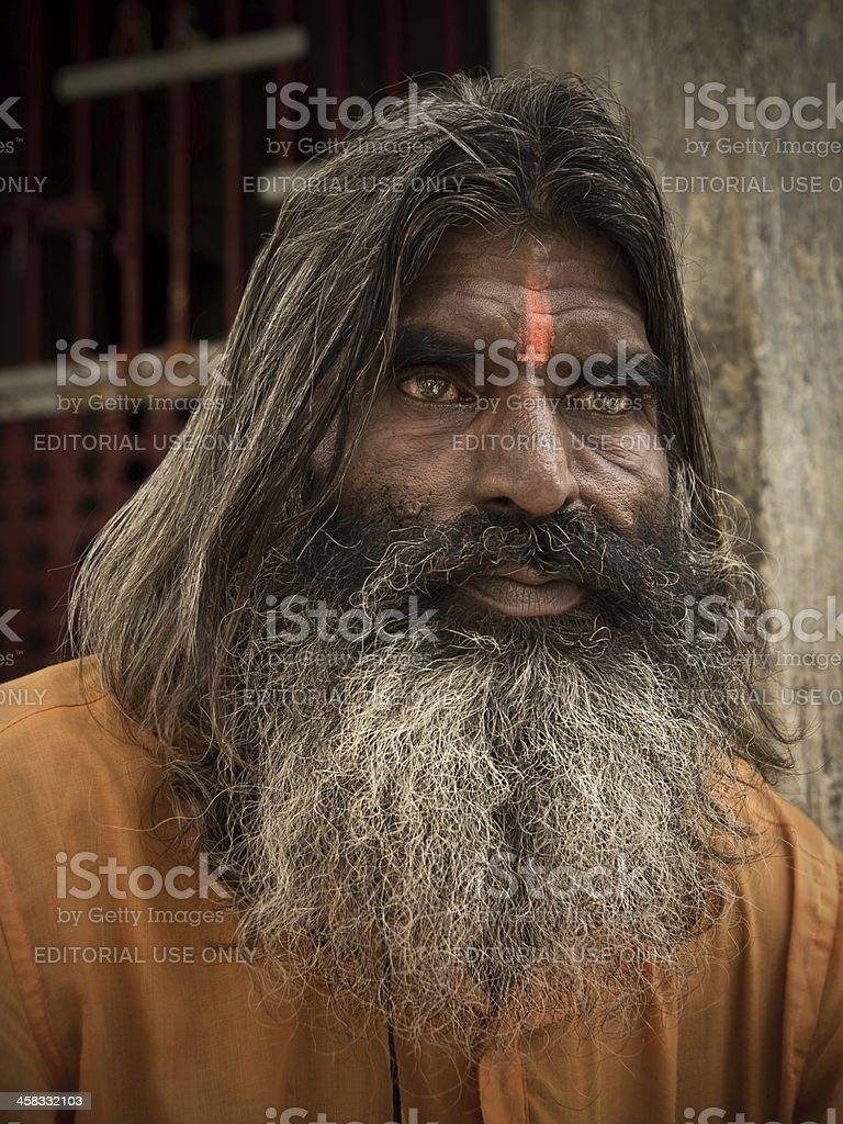 Indian Sadhu royalty-free stock photo