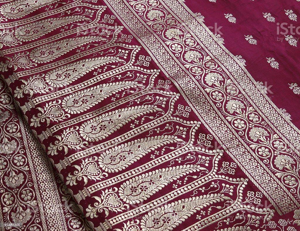 Indian Saree embroidery design close-up stock photo