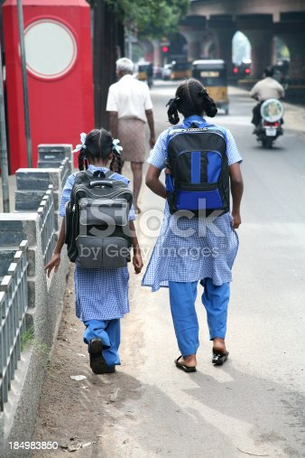 istock Indian schoolgirls 184983850