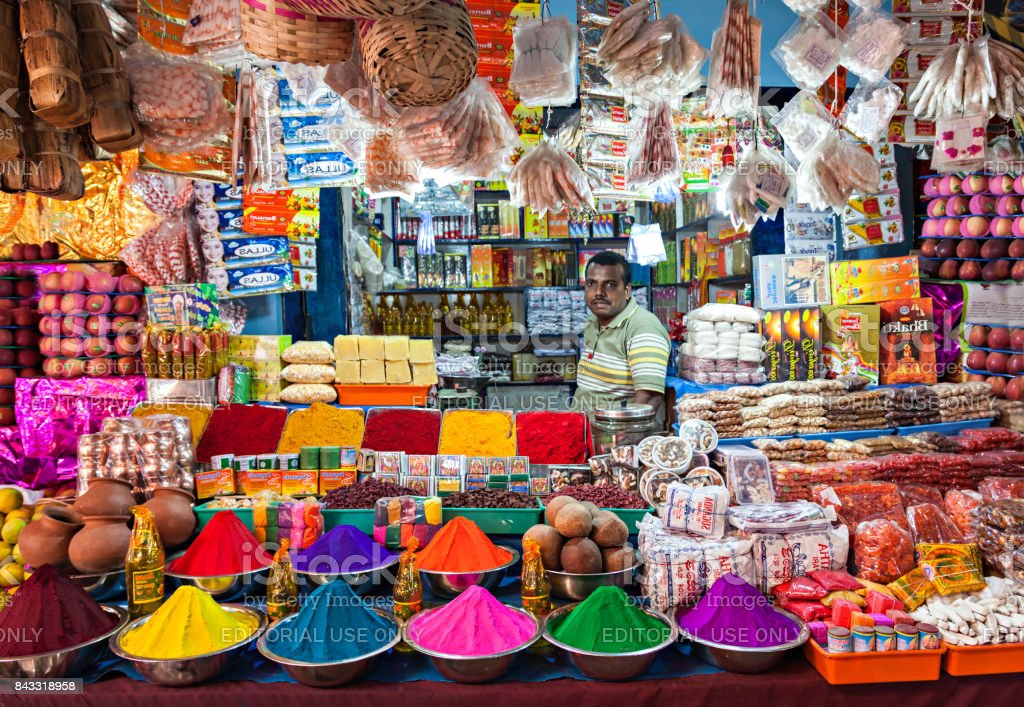 Indian shop stock photo