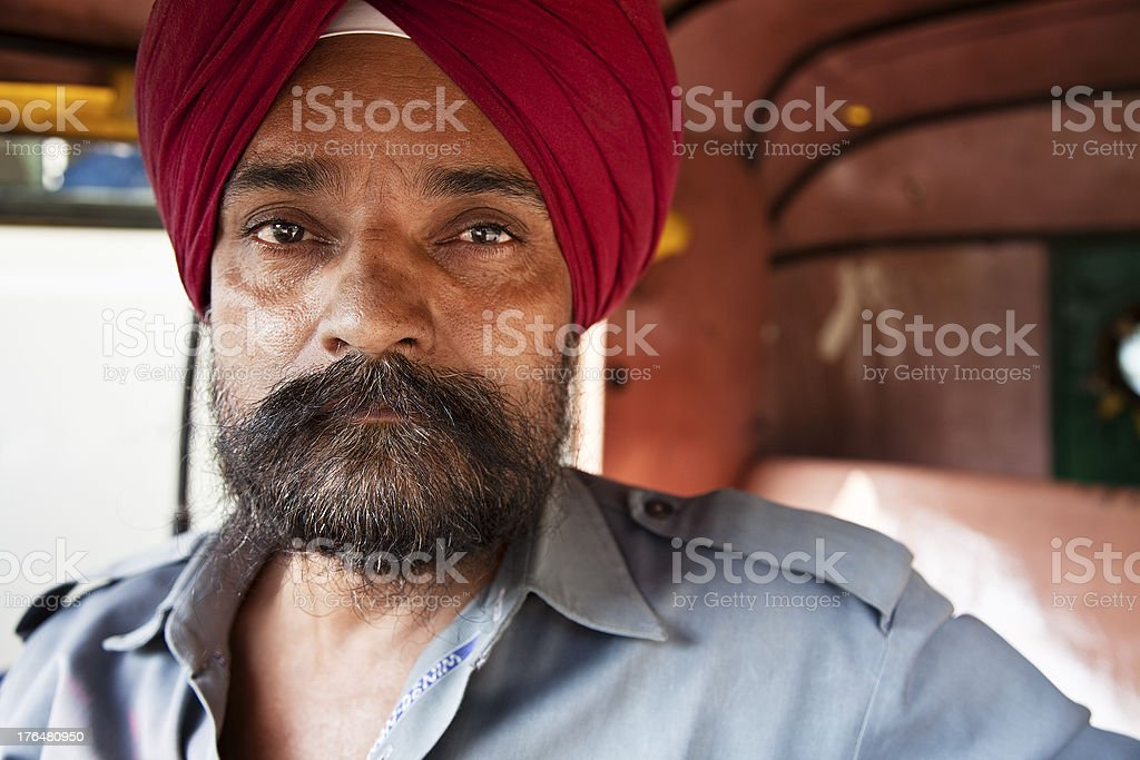 indian sikh man portrait stock photo