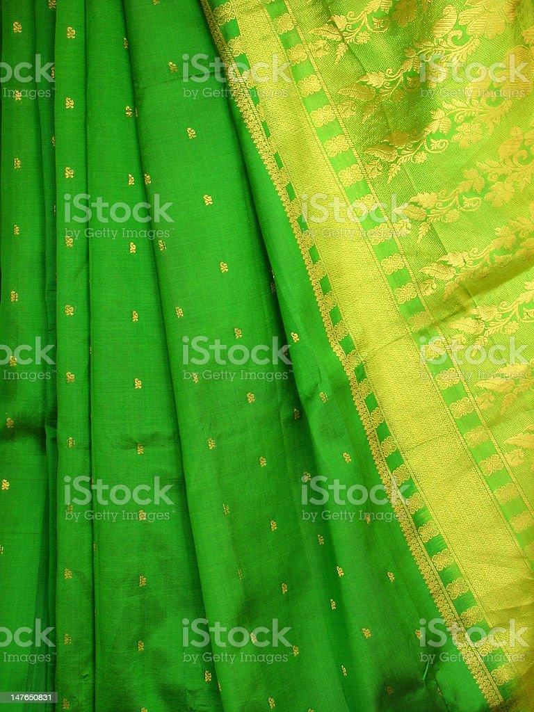 Indian Silk Sari royalty-free stock photo