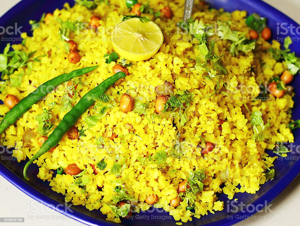 POHA - Indian Snacks stock photo