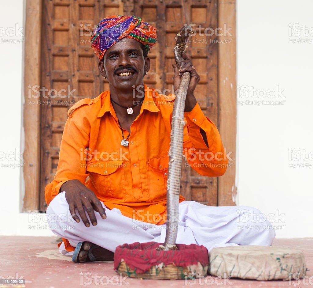 Indian Snake Charmer stock photo