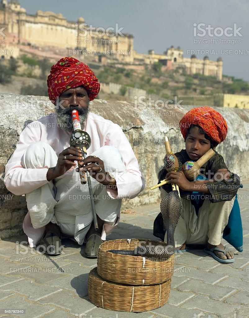 Indian snake charmers - Jaipur - India stock photo