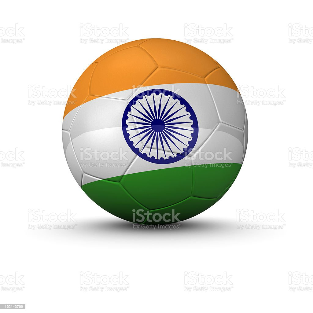 indian soccer ball royalty-free stock photo