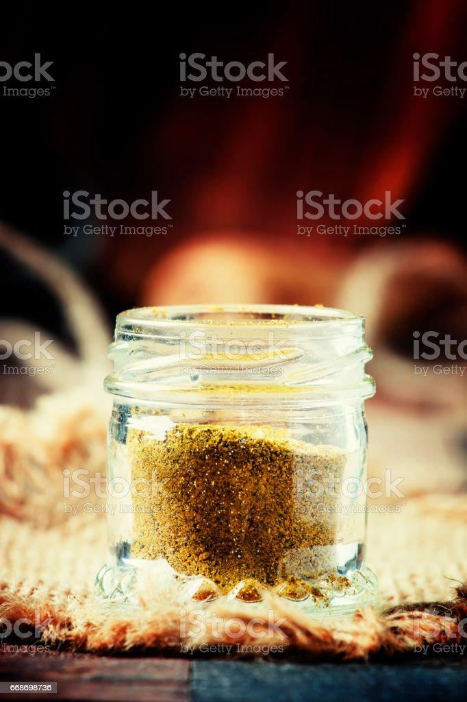 Indian spice garam masala stock photo