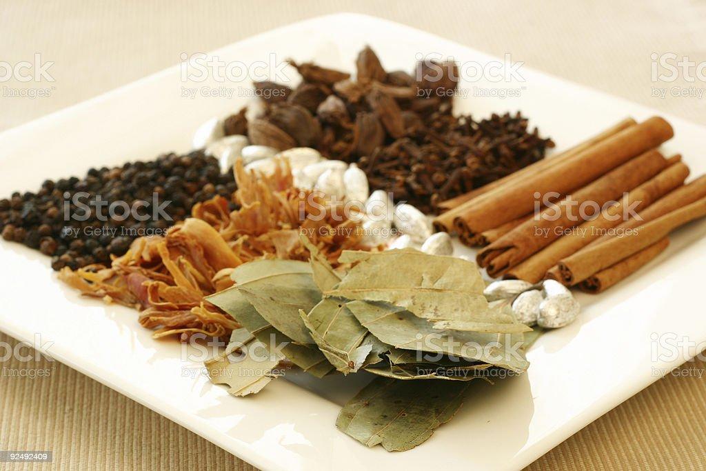 Indian Spice Tray stock photo