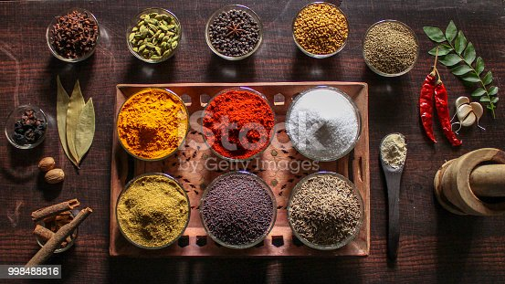 istock Indian Spices and Essential Kitchen Ingredients 998488816