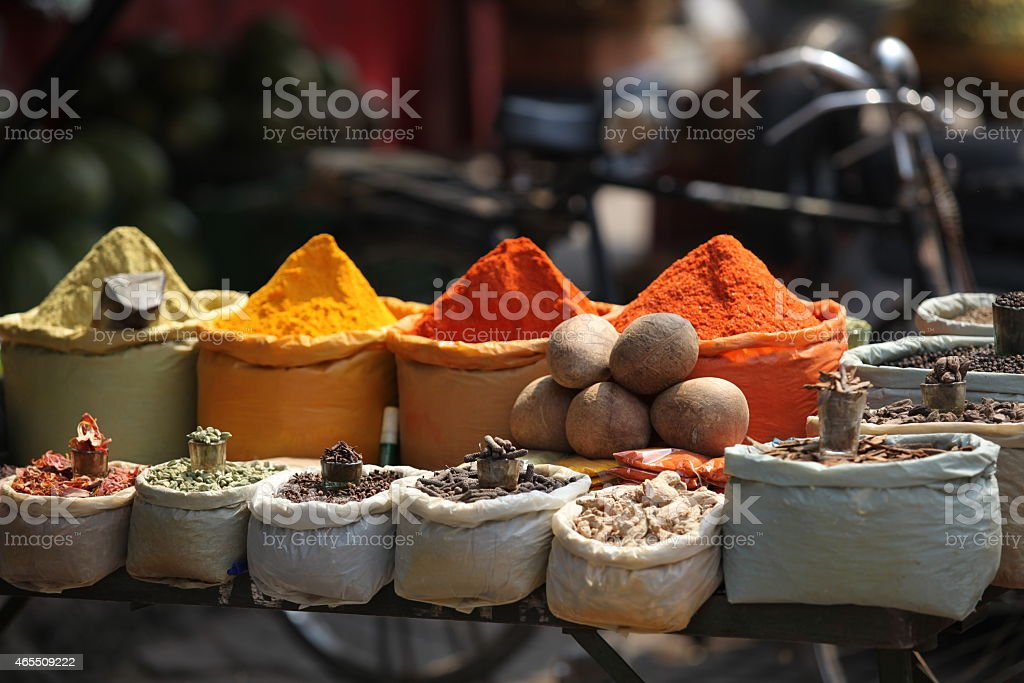 Indian spices stock photo