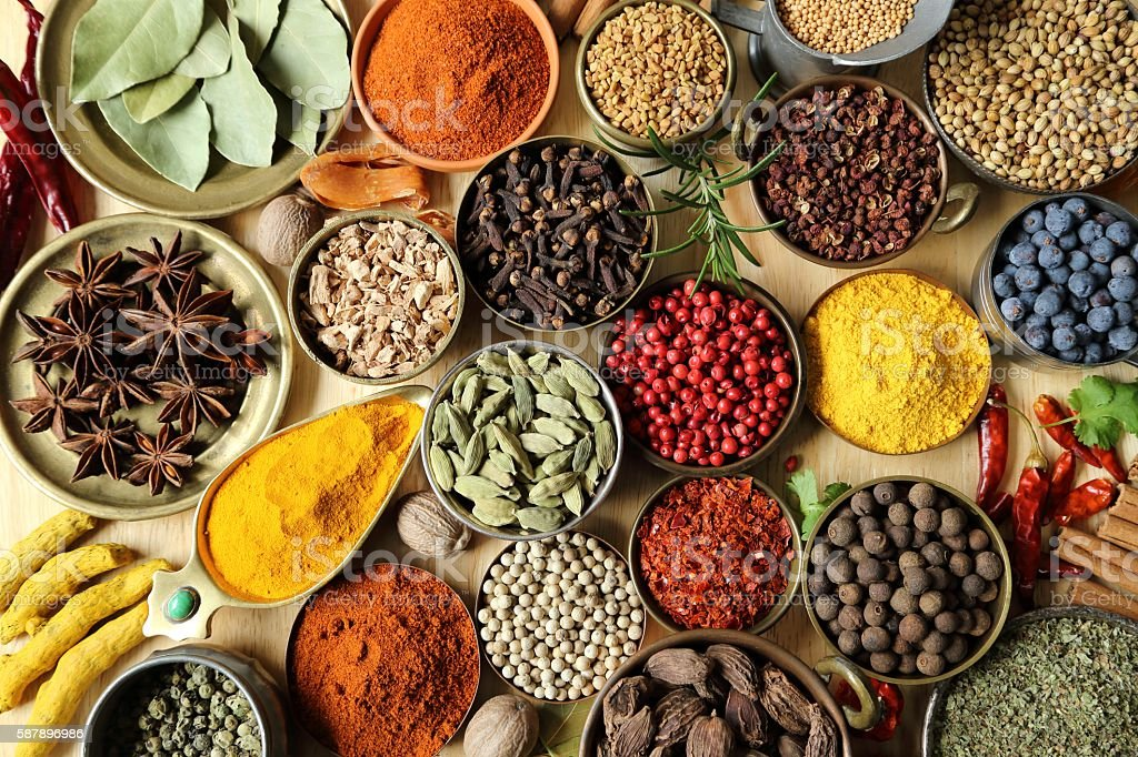 Indian spices. stock photo
