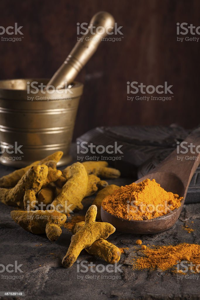 Indian spices/ Turmeric stock photo