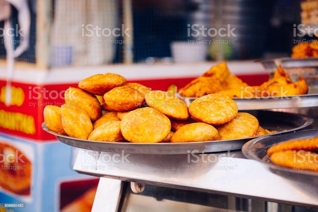 Indian Street Food in Pushkar Stadt. – Foto