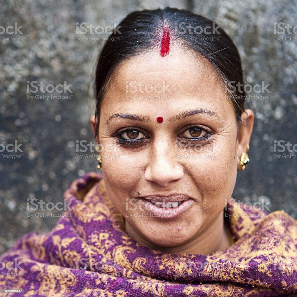 Indian street seller in Kathmandu.s royalty-free stock photo