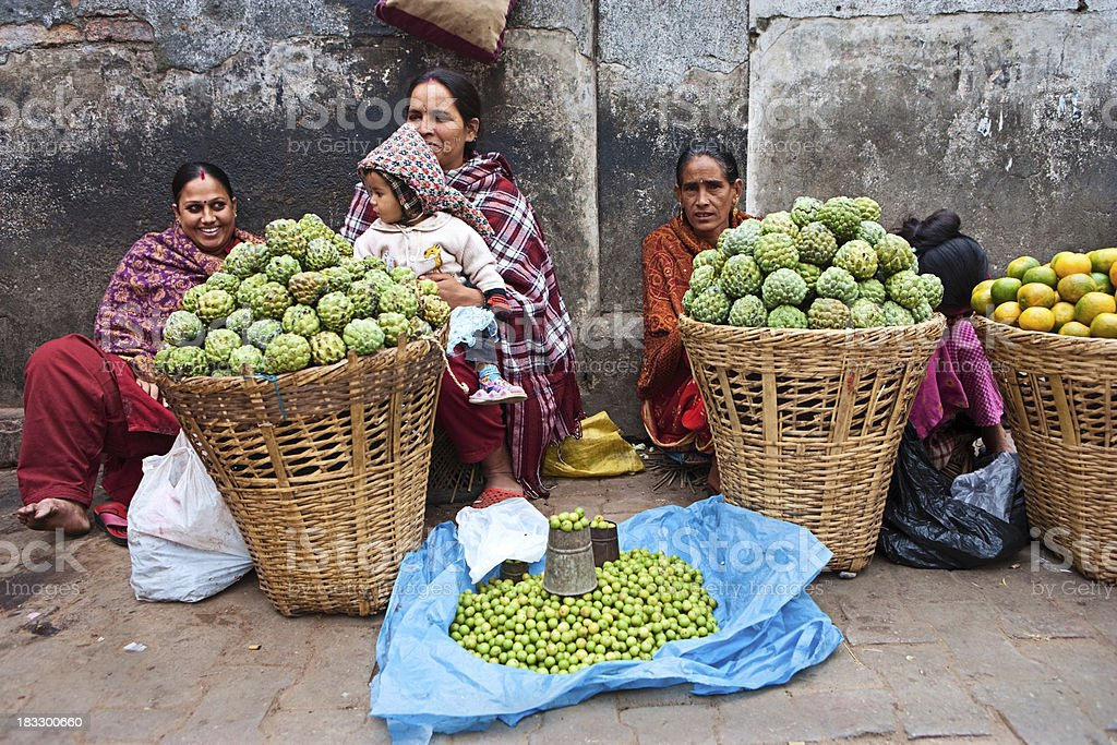 Indian street sellers royalty-free stock photo