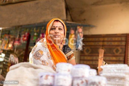 Indian Street Vendor Woman
