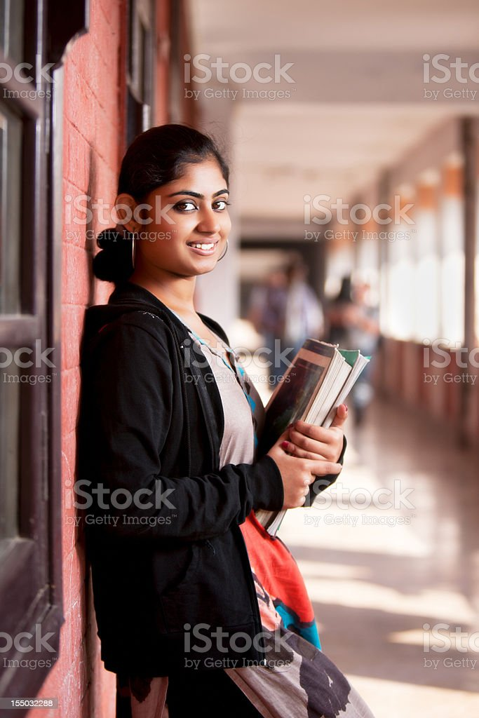 Indian student girl stock photo
