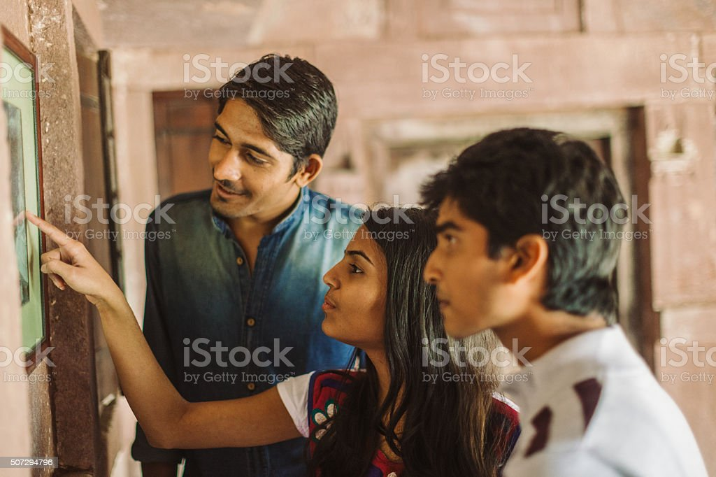 Indian students stock photo