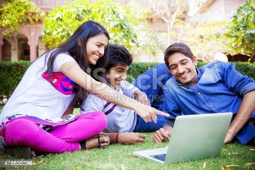 istock Indian Students taking a relax 478835296