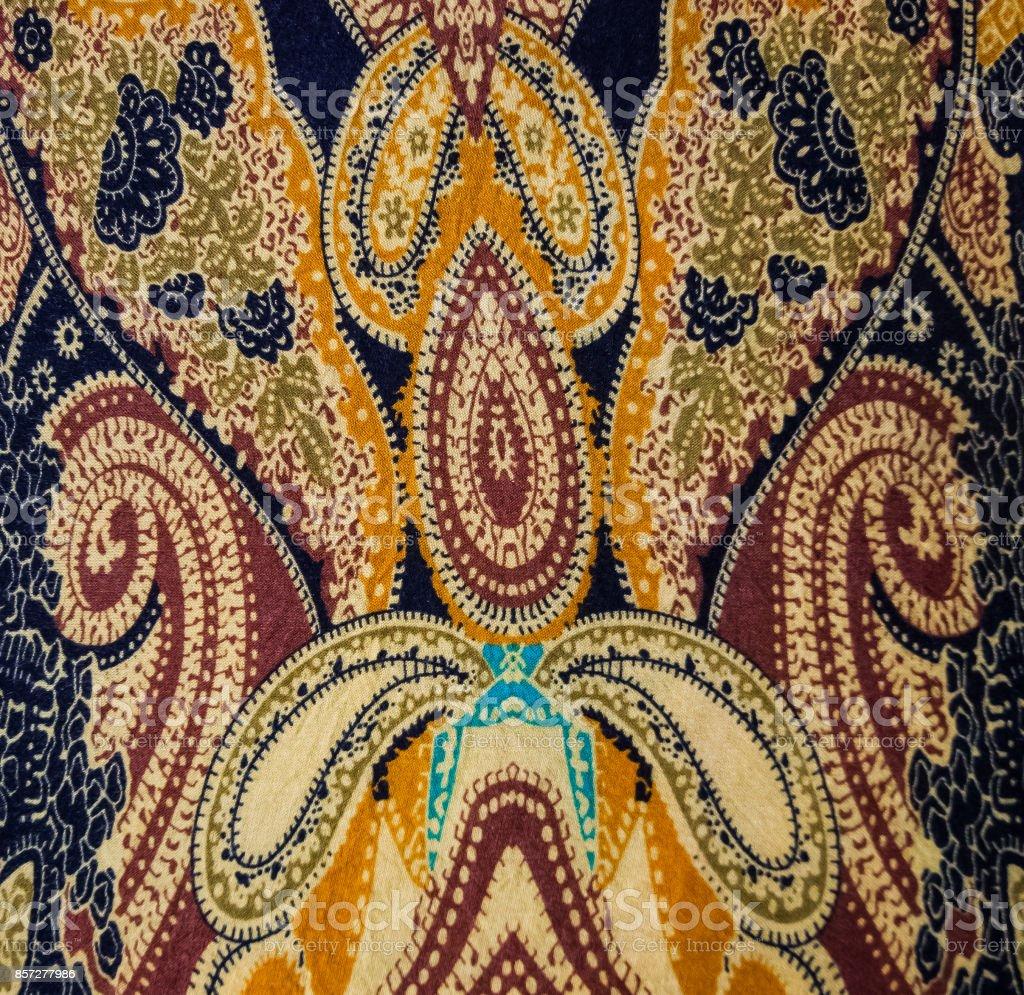 Indian style fabric stock photo