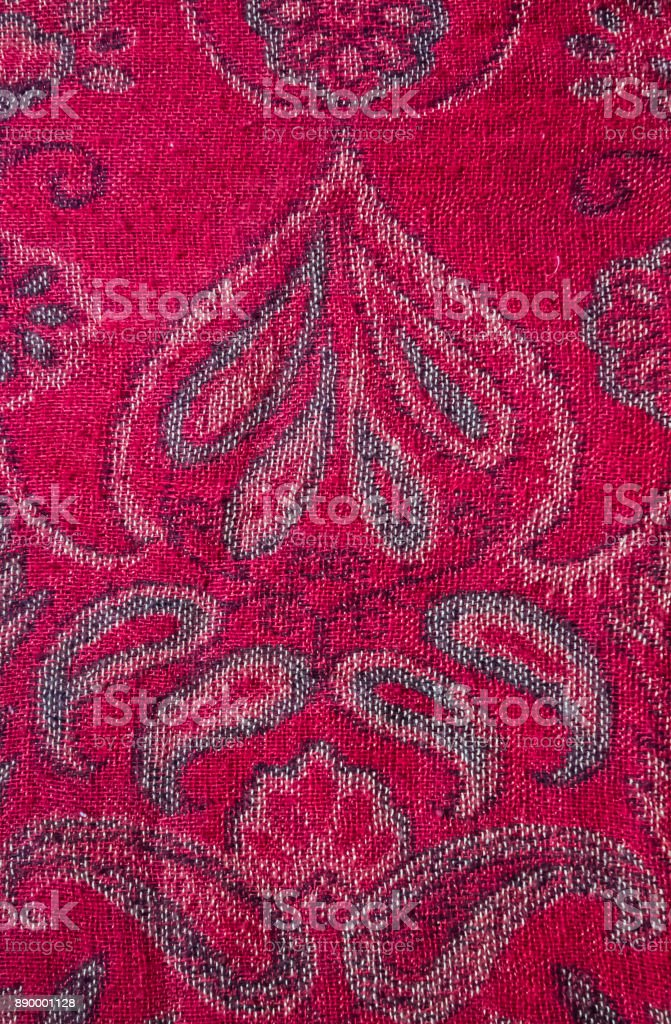 Indian style fabric stock photo