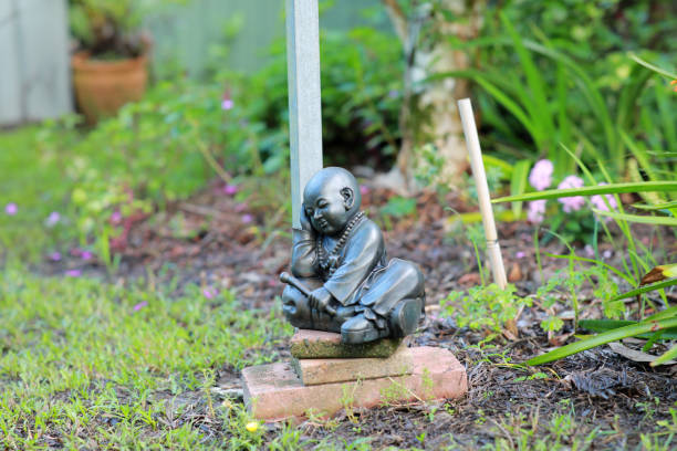 Indian Style Garden Statue stock photo