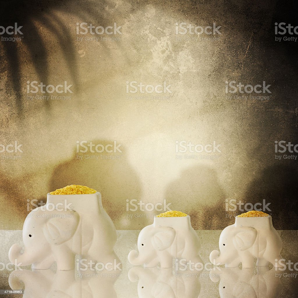Indian style. Interior with elephants stock photo