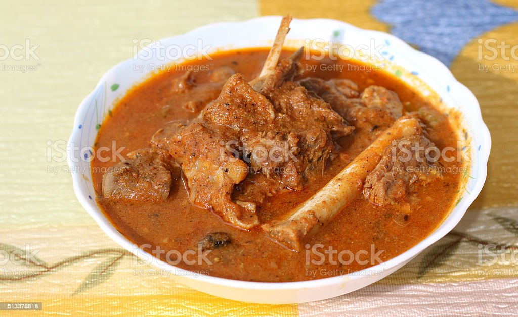 Indian style mutton curry stock photo