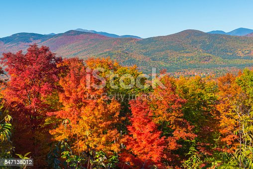 Indian Summer at White Mountain National Forest in New Hampshire, USA