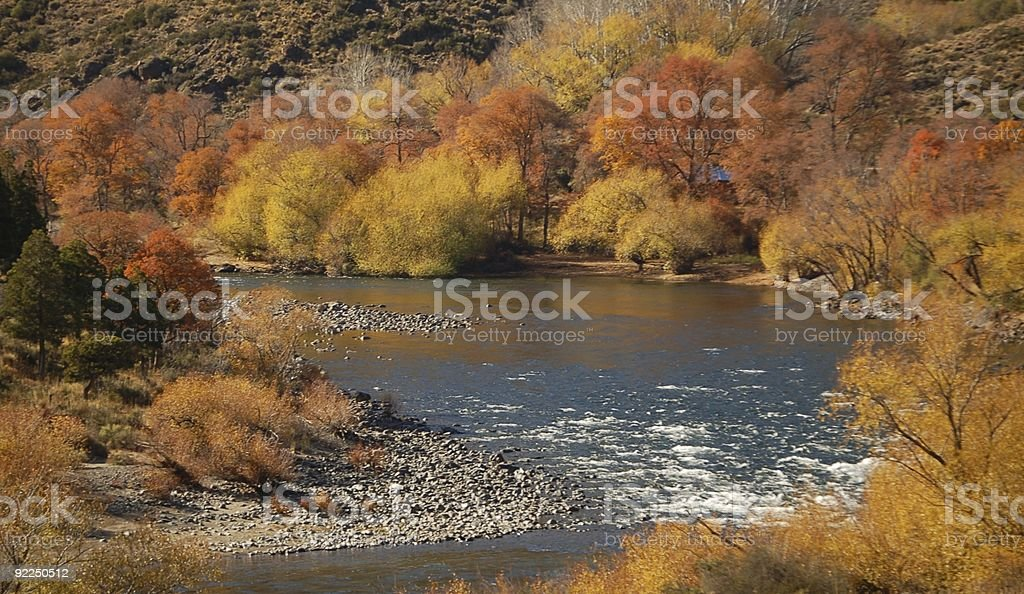 Indian Summer in Patagonia royalty-free stock photo