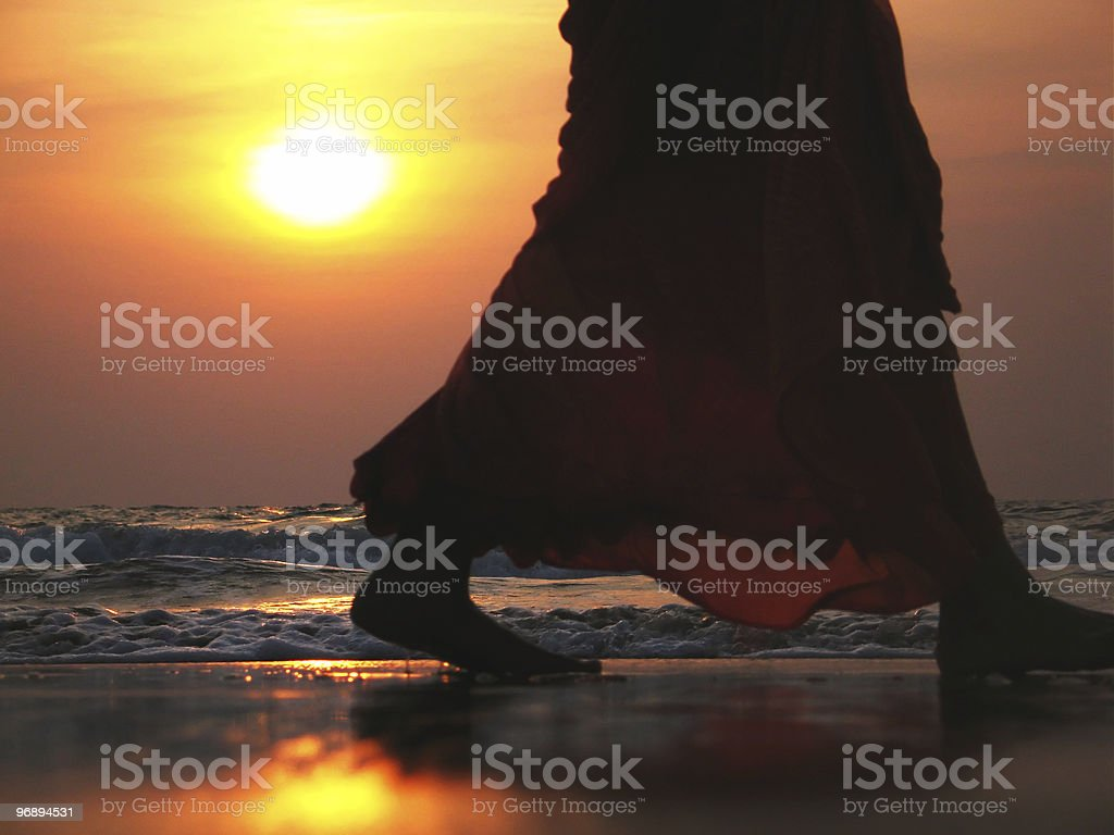 Indian sunset royalty-free stock photo