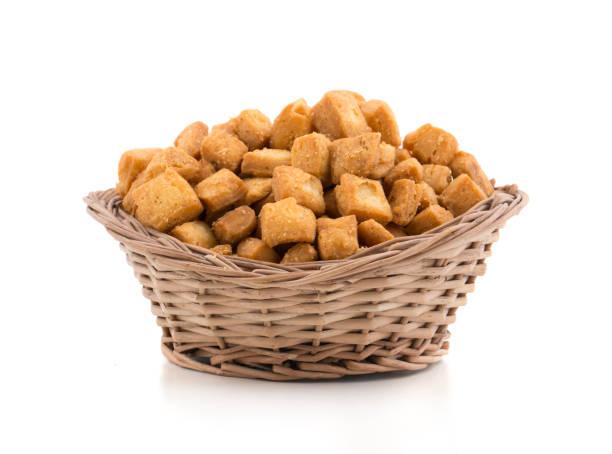 Indian Sweet Cusuine Shakarpara Snack stock photo