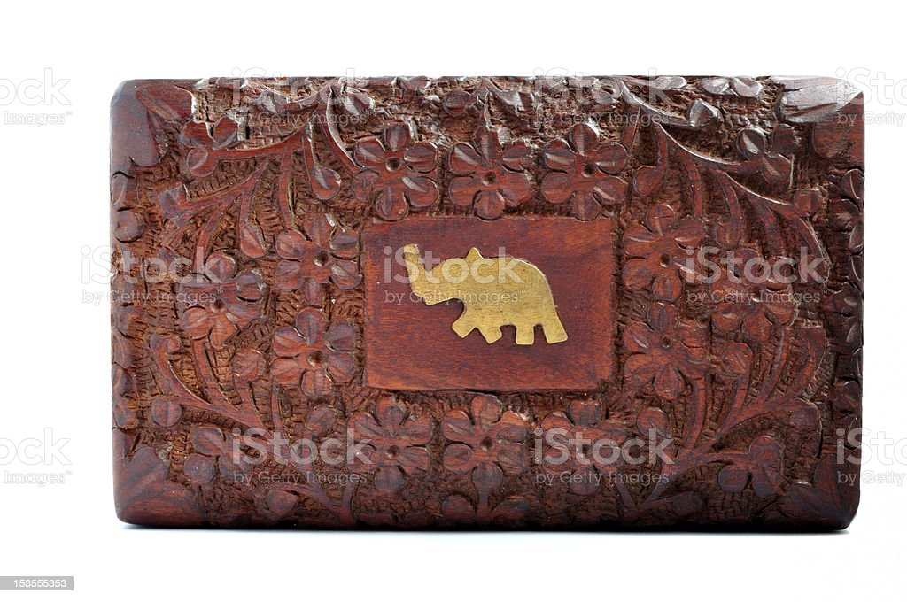 Indian Tea box, Isolated royalty-free stock photo