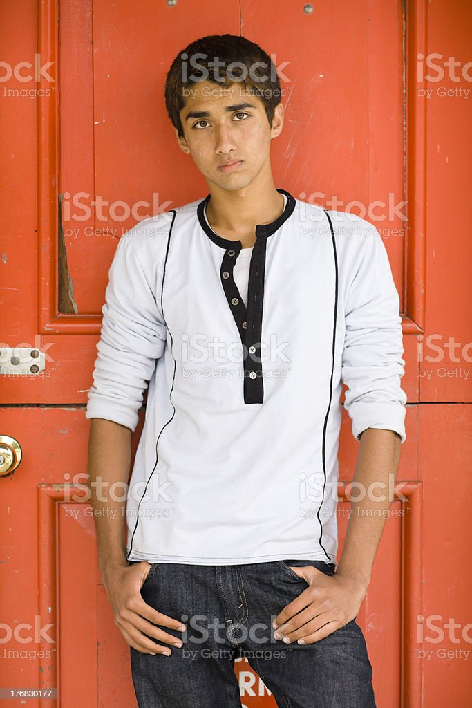 Indian Teen Boy stock photo