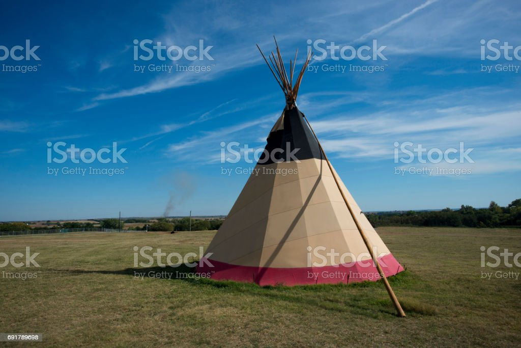 Indian teepee stock photo