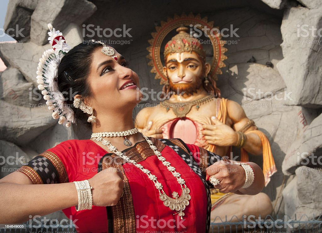 Indian temple dance stock photo