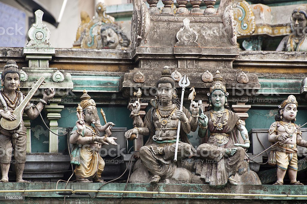 Indian temple sculptures royalty-free stock photo