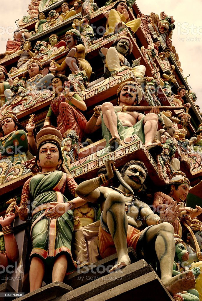 Indian temple statues royalty-free stock photo