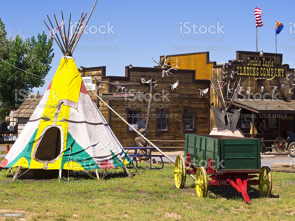 Indian tent stock photo