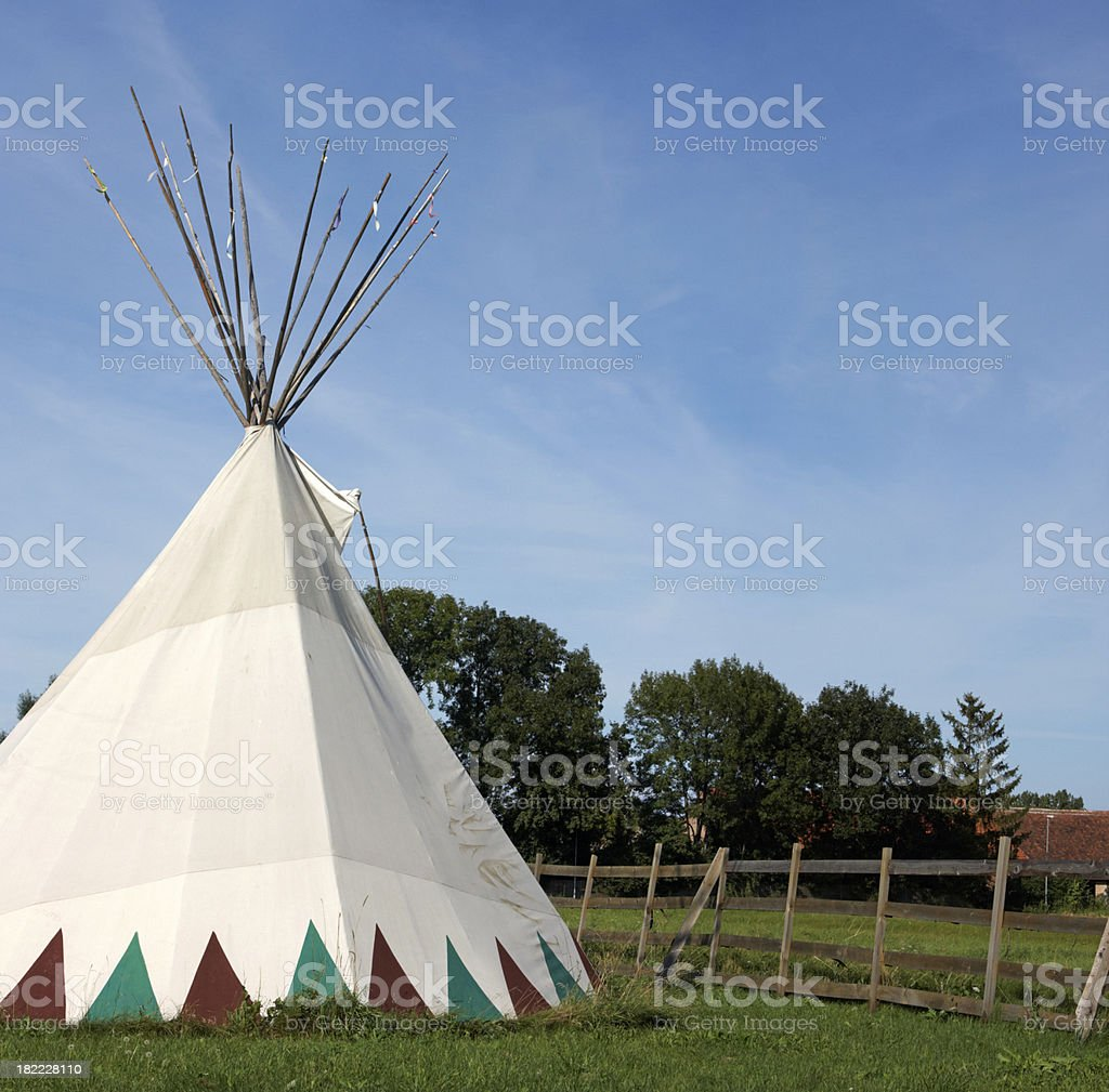 Indian tepee stock photo