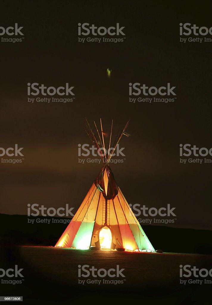 Indian Tepee royalty-free stock photo