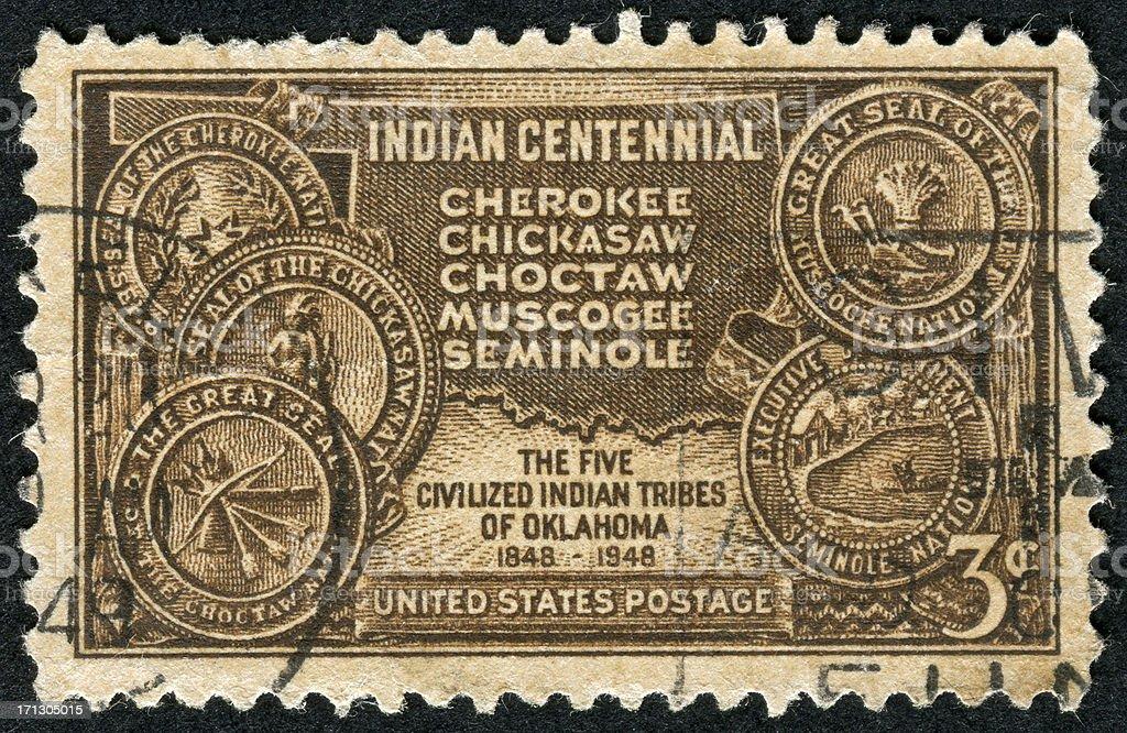 Indian Territory Of Oklahoma Stamp stock photo
