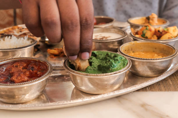 Indian Thaali Meal stock photo